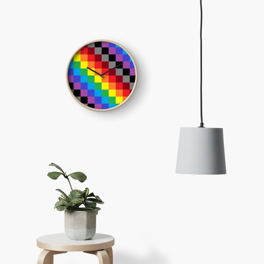 Colored Squares Clock