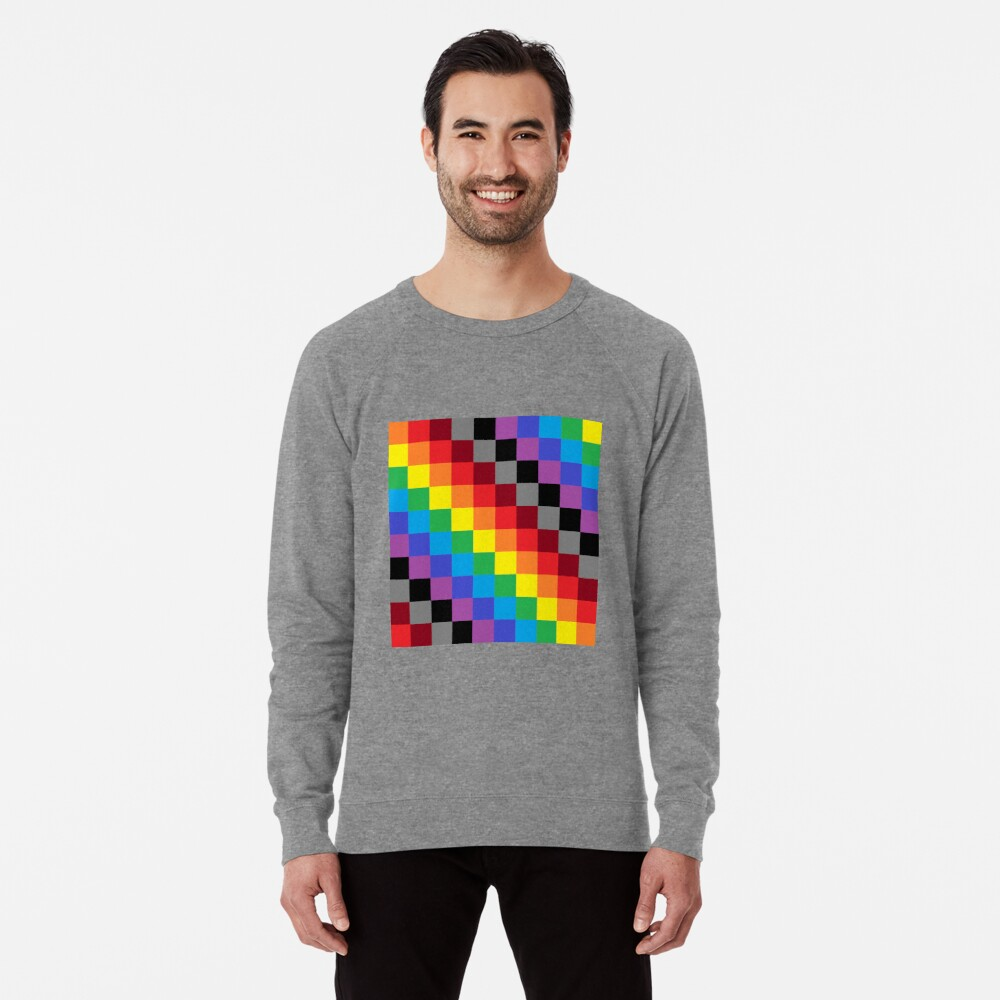 Colored Squares Lightweight Sweatshirt