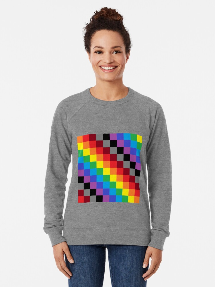 Alternate view of Colored Squares Lightweight Sweatshirt