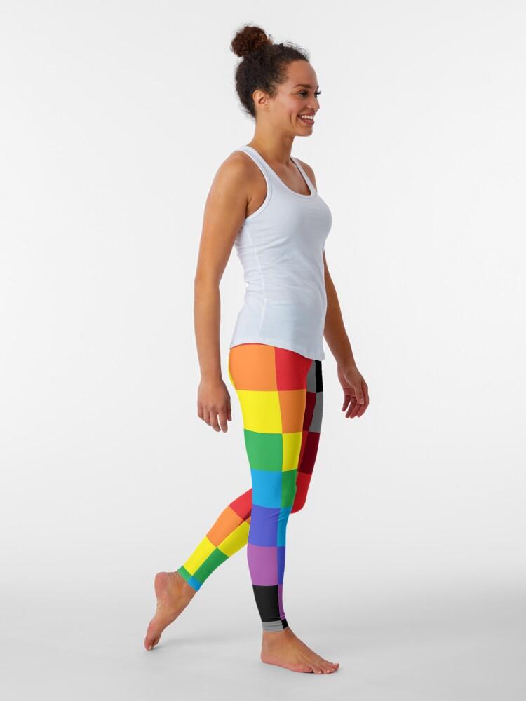 Alternate view of Colored Squares Leggings