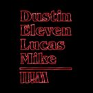 Dustin, Eleven, Lucas, Mike & Will by monkdxiii