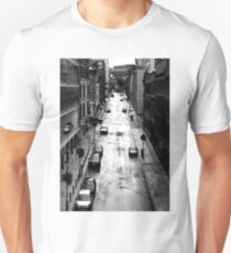 Birmingham City Centre, Edmund Street with Old library in background. Unisex T-Shirt
