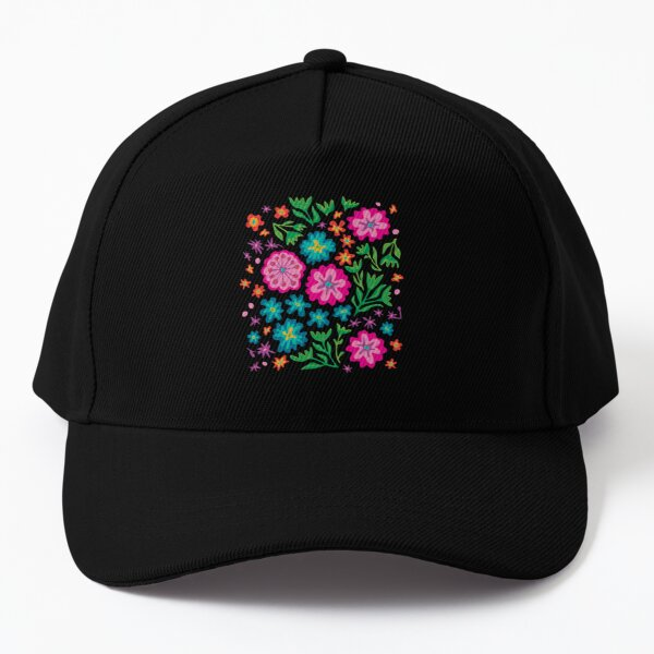 SAYULITA BRIGHT TROPICAL FLORAL in MEXICAN STYLE - UnBlink Studio by Jackie Tahara Baseball Cap