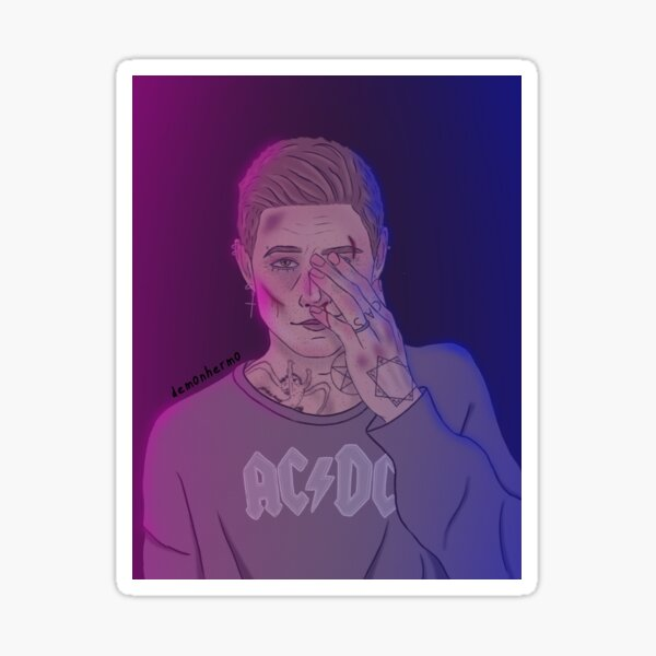 dean in bisexual lighting  Sticker