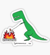 tyrannosmoreus rex  Sticker