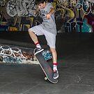 Skateboarder at South Bank skatepark, London (Not for sale) by MisterD