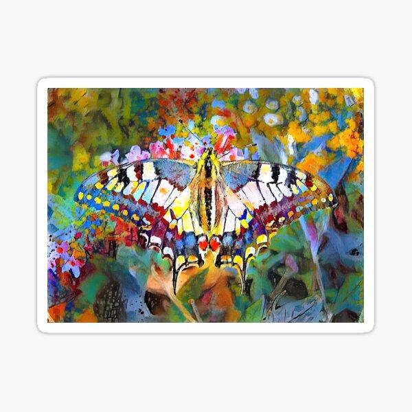 Old World Swallowtail Butterfly Sticker