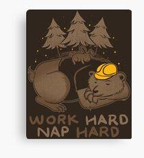 Work Hard Nap Hard Canvas Print