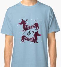Merry & Bright (Dachshund Sausage Dog) Classic T-Shirt