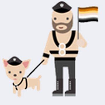gay bondage dog man holding monochrome gay pride flag shirt by shittymemer