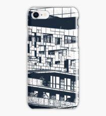 The Cube, Birmingham city centre UK architecture, digitally edited iPhone Case/Skin