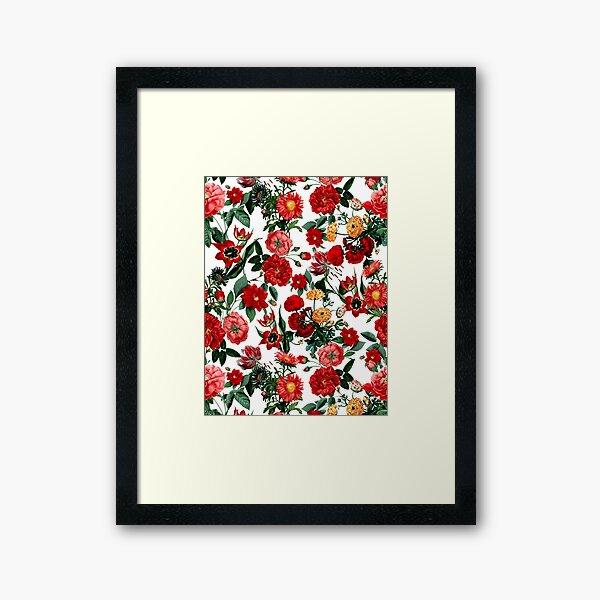 Botanical Garden on White Framed Art Print