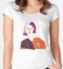 Who I am. Women's Fitted Scoop T-Shirt