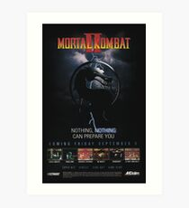 VINTAGE Mortal Kombat II  Art Print