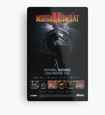 VINTAGE Mortal Kombat II  Metal Print