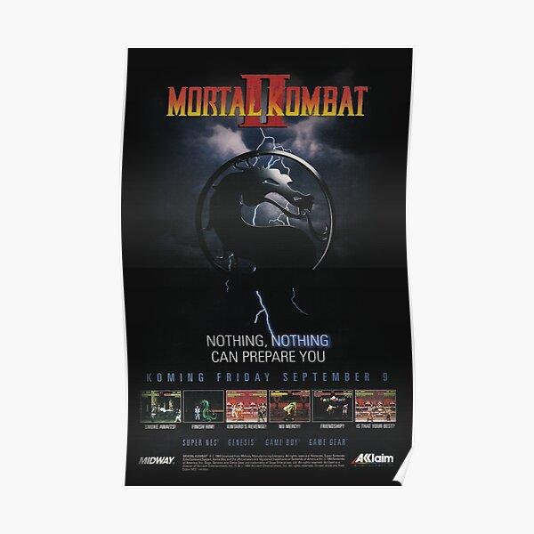 VINTAGE Mortal Kombat II  Poster