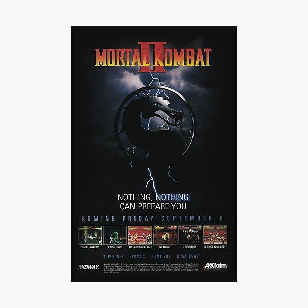 VINTAGE Mortal Kombat II  Photographic Print