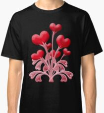 Valentines Love Blossoms Heart Flowers Classic T-Shirt