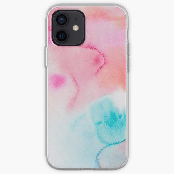 Pink Sea - Abstract Watercolor Coral Reef Collection iPhone Soft Case