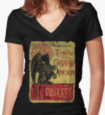 Tournee du grand ancien Women's Fitted V-Neck T-Shirt