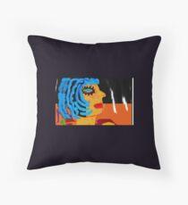 Blue Bird by Mickeys Art And Design Throw Pillow