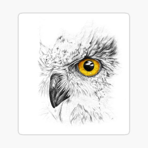 The Orange Eye Sticker