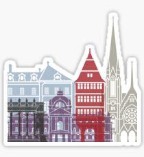 Strasbourg skyline poster Sticker