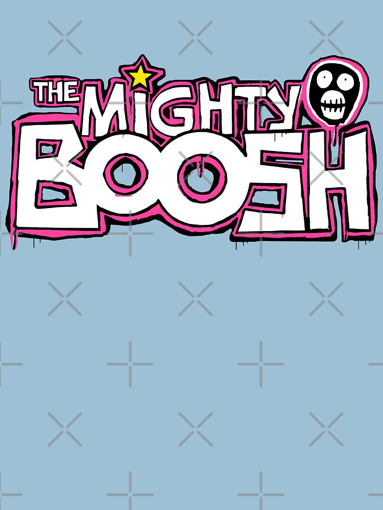 The Mighty Boosh  Dripping Pink Writing & Mask | Unisex T-Shirt