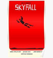 Saul Bass inspired Skyfall poster  Poster