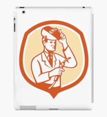 Scientist Lab Researcher Welder Shield Retro iPad Case/Skin