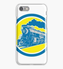 Steam Train Locomotive Circle Retro iPhone Case/Skin