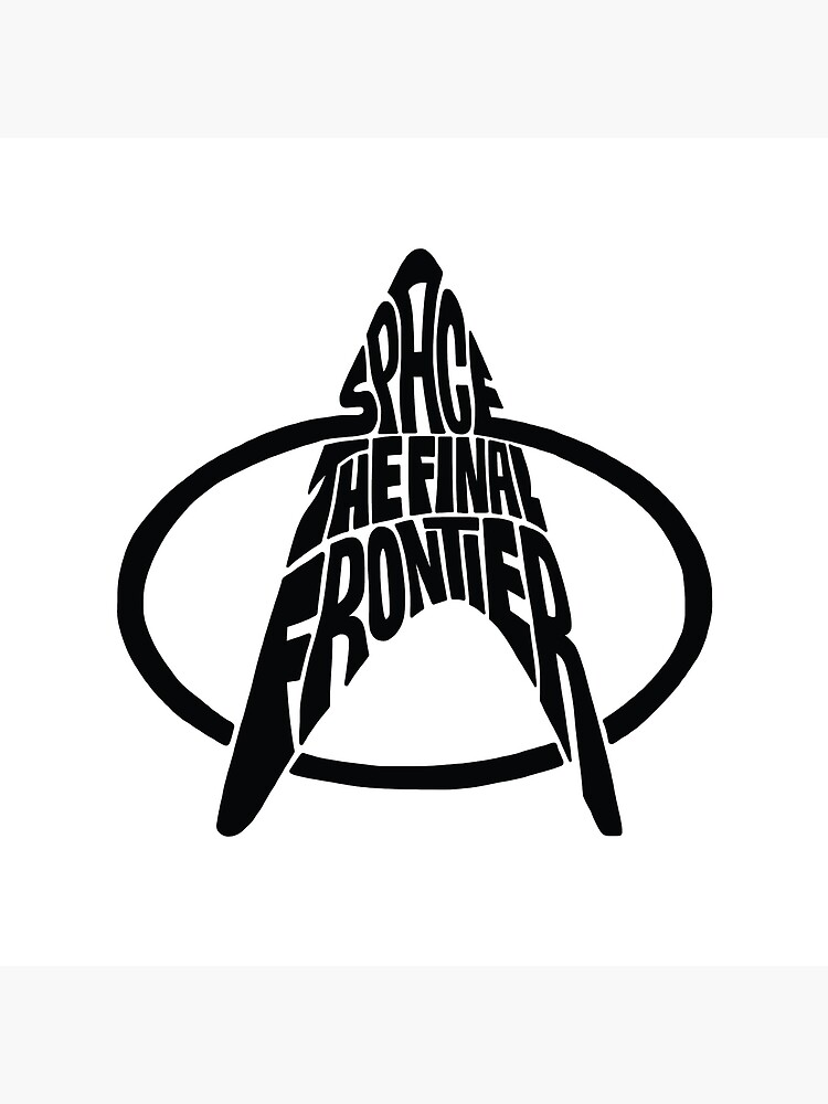 Star Trek Space The Final Frontier (black) by seaning
