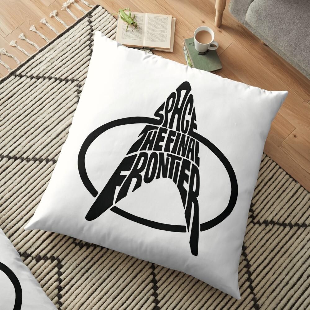 Star Trek Space The Final Frontier (black) Floor Pillow