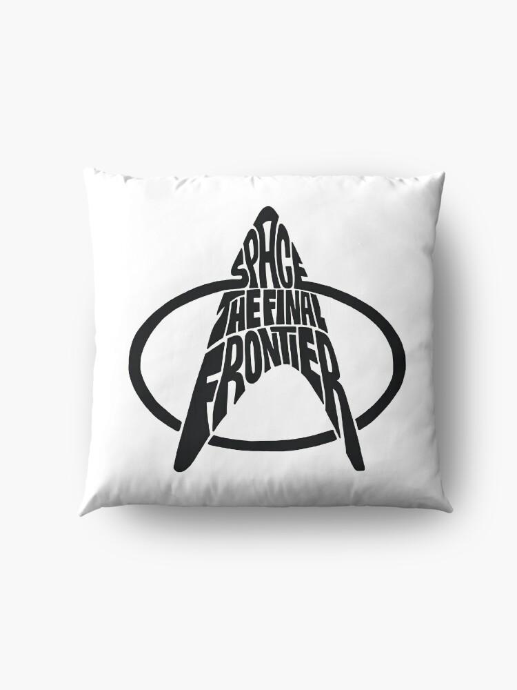 Alternate view of Star Trek Space The Final Frontier (black) Floor Pillow