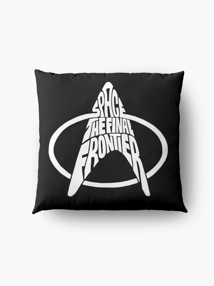 Alternate view of Star Trek Space The Final Frontier White Floor Pillow