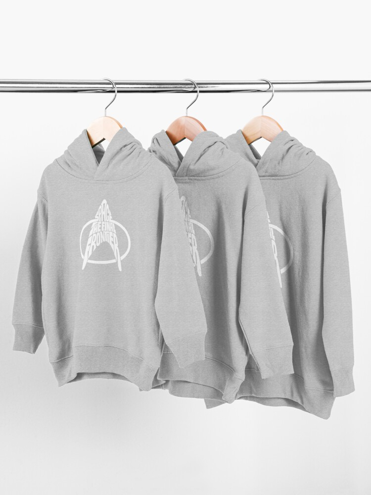 Alternate view of Star Trek Space The Final Frontier White Toddler Pullover Hoodie