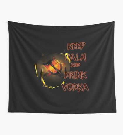 keep calm and drink vodka Wall Tapestry