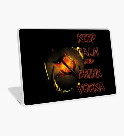 keep calm and drink vodka Laptop Skin