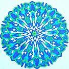 Blue-Green Mandala Colored by Ann by Ann Palmieri
