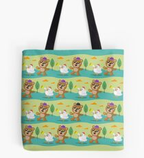 Bear and Chicken  Tote Bag