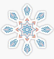 Christmas snowflakes, Christmas stars on white background Sticker