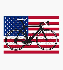 Bike Flag USA (Big - Highlight) Photographic Print