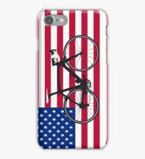 Bike Flag USA (Big - Highlight) iPhone Case/Skin