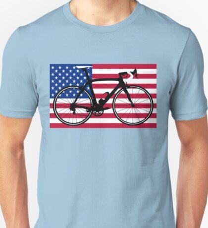 Bike Flag USA (Big - Highlight) T-Shirt