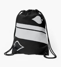 Ace of Spades Drawstring Bag
