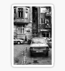 Quiet Streetscape In Sofia From Last Century Sticker