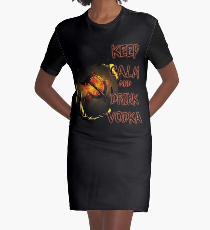 keep calm and drink vodka Graphic T-Shirt Dress