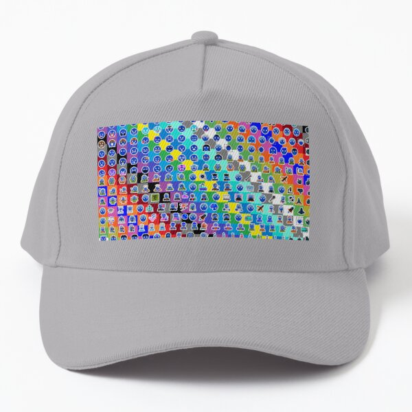 Emojis on Background of Colored Squares. Смайлики на фоне цветных квадратов Baseball Cap