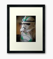 Seige Battalion Clone trooper Framed Print