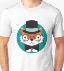 Top Hat Fox Unisex T-Shirt